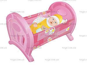 Кроватка для кукол «Анюта», 5019, магазин игрушек