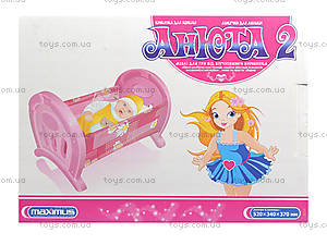 Кроватка для кукол «Анюта», 5019, toys