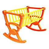 Кроватка для кукол в сетке, оранжевая, 5053