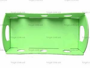 Деревянная кроватка для кукол, зеленая, К056, фото