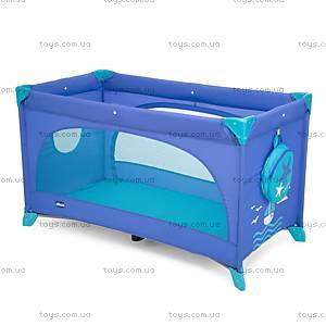 Кроватка-манеж Easy Sleep, синий, 79087.42