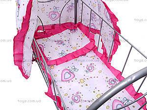 Кроватка с балдахином, для кукол, FL989-4, цена