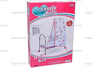 Кроватка с балдахином, для кукол, FL989-4, игрушки