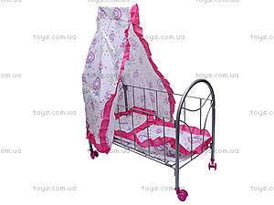 Кроватка с балдахином, для кукол, FL989-4