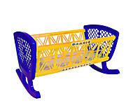 Кроватка в сетке желто-синяя Бамсик, 006