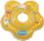 Круг для купания младенцев (желтый), LN-1558, фото