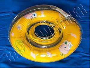 Круг для малыша Baby Swimmer, желтого цвета,