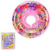 """Круг на шею """"Конфетки"""" для плавания малышей в ванной, R2011, детские игрушки"""