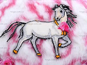 Круглая шкатулка из меха с лошадью, BT-C-020, купить