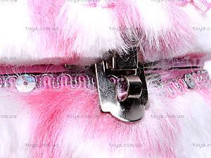 Круглая шкатулка из меха с лошадью, BT-C-020, фото
