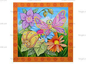 Кристалл-картина «Улитка и бабочка», VT4010-03, детские игрушки