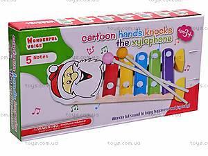 Ксилофон игрушечный «Лягушонок», K22, игрушки