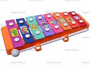 Ксилофон металлический детский, 3006, фото