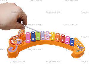 Музыкальная игрушка для малышей «Ксилофон», 123-1B, фото