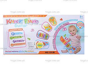 Музыкальная игрушка для малышей «Ксилофон», 123-1B, цена