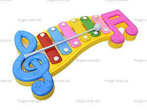 Детский ксилофон «Ноты», 20099, фото