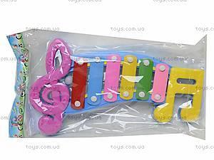 Детский ксилофон «Ноты», 20099, toys.com.ua