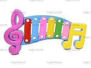 Детский ксилофон «Ноты», 20099, toys