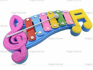 Детский ксилофон «Ноты», 20099, іграшки