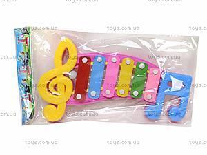 Детский ксилофон «Ноты», 20099, детский