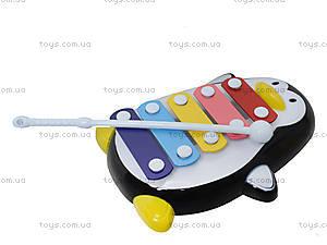Детский ксилофон «Пингвин», 30112AB, фото