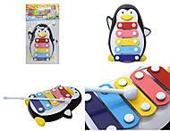 Детский ксилофон «Пингвин», 30112AB
