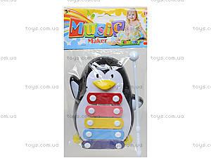 Детский ксилофон «Пингвин», 30112AB, игрушки