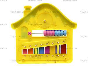Детский ксилофон «Домик», 8989C4, фото