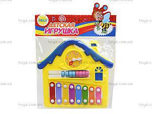 Детский ксилофон «Домик», 8989C4, игрушки