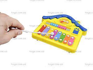 Детский ксилофон «Домик», 8989C4, детские игрушки