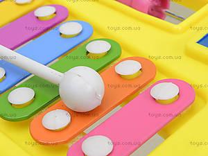 Детский ксилофон «Домик», 8989C4, магазин игрушек