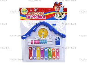 Детский ксилофон «Домик», 8989C4, іграшки
