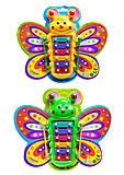 Детский музыкальный инструмент ксилофон в форме бабочки, FD043B, купить