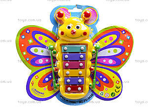 Детский музыкальный инструмент ксилофон в форме бабочки, FD043B, отзывы