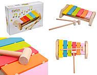 Музыкальный деревянный ксилофон, 12619, фото
