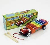Ксилофон-каталка в форме машинки, 0463, фото