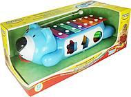 Ксилофон-сортер на колесах синий, 58021-2, купить