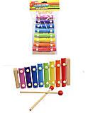 Музыкальный инструмент ксилофон, 5301, фото