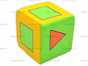Кубик-погремушка «Геометрические фигуры», , купить