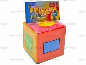 Кубик-погремушка «Геометрические фигуры», , цена
