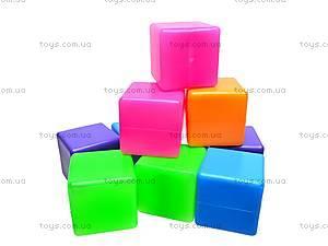 Кубики цветные, 20 штук, 1112