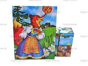 Кубики и пазлы «Сказки», 2575, цена