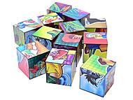 Кубики «Любимые персонажи», 0892, детские игрушки