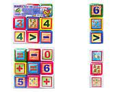 Детские кубики «Математика», 9 штук, 0282, отзывы