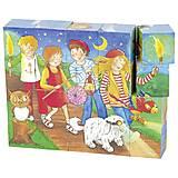 Кубики деревянные goki Peggy Diggledey, 57738G, фото