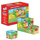 Кубики деревянные «Сказки: Репка и Теремок», ZB1002-02, отзывы