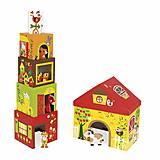 Кубики картонные Janod «Ферма», J02801, купить