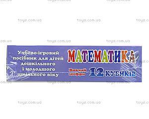 Пластиковые кубики «Математика», 12 штук, 313, фото