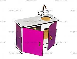 Кухня маленькая (бело-розовая), Б1