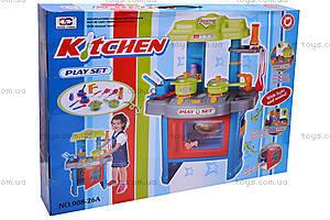 Кухня с микроволновкой и посудой, 008-26A, купить
